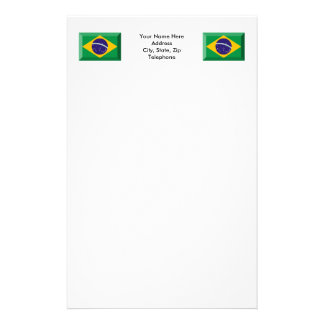 Brazil Flag Jewel Stationery