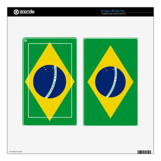 Brazil Flag Kindle Fire Decals
