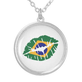 Brazil flag kiss pendant