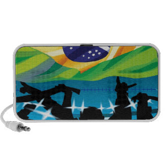 Brazil flag laptop speaker