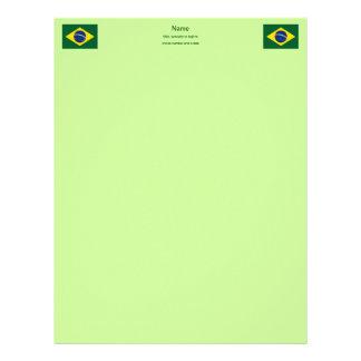 Brazil flag letterhead
