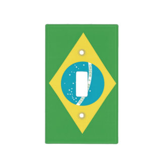 Brazil Flag Lightswitch Cover