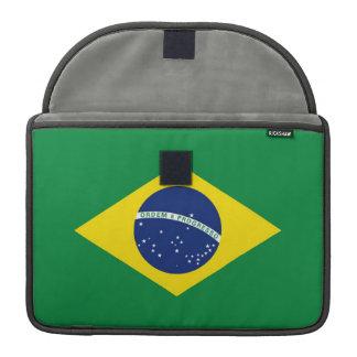 Brazil Flag Sleeve For MacBooks
