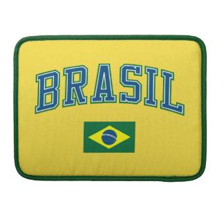 Brazil + Flag MacBook Pro Sleeve