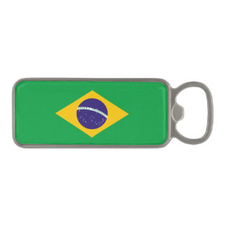 Brazil Flag Magnetic Bottle Opener
