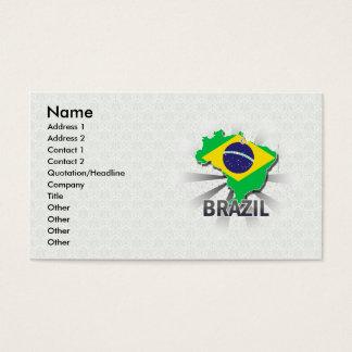 Brazil Flag Map 2.0 Business Card