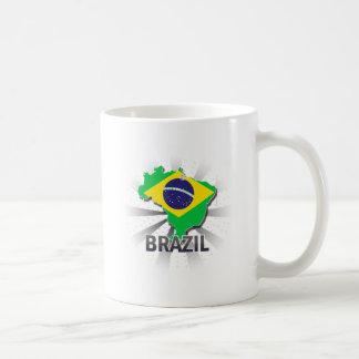Brazil Flag Map 2.0 Coffee Mug