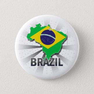 Brazil Flag Map 2.0 Pinback Button