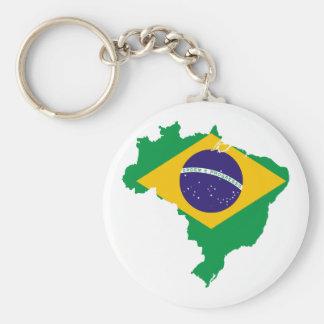 brazil flag map keychain