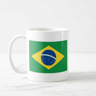 Brazil Flag ~ Map Mug