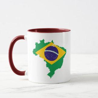 brazil flag map mug