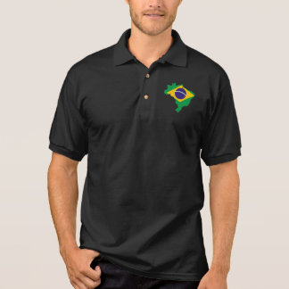 brazil flag map polo shirt