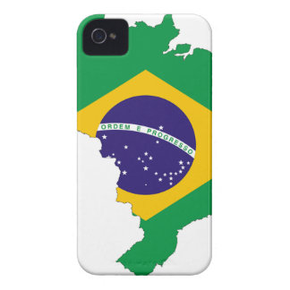 Brazil Flag Map Symbol Brazilian Country iPhone 4 Case-Mate Case
