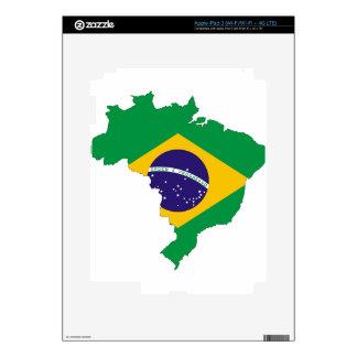 Brazil Flag Map Symbol Brazilian Country Skins For iPad 3
