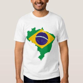 brazil flag map t-shirt
