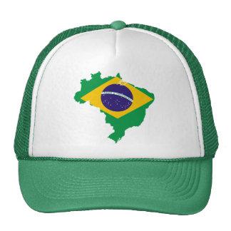 brazil flag map trucker hat