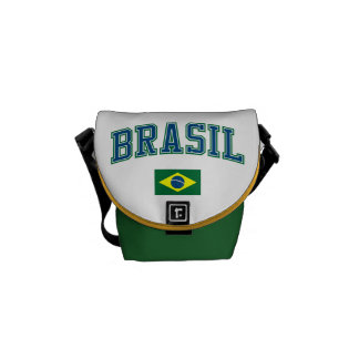 Brazil + Flag Messenger Bags