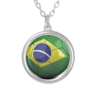 Brazil Flag Personalized Necklace
