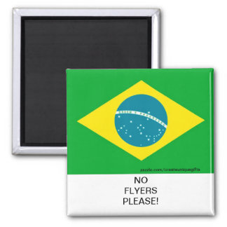Brazil Flag No Flyers Please Mail Box Magnet