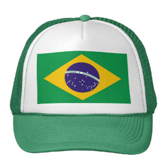 Brazil flag or Bandeira do Brasil Trucker Hat