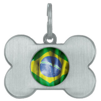 Brazil Flag Pet Tag