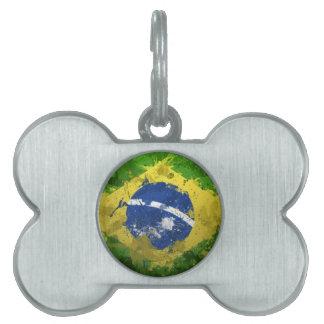 Brazil-Flag- Pet Tags