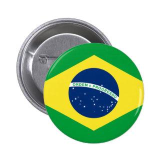 brazil flag pinback button