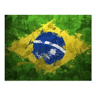 Brazil Flag Post Card