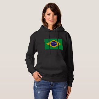 Brazil flag pull over hoodie