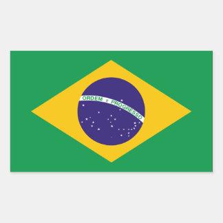 Brazil Flag Rectangular Sticker