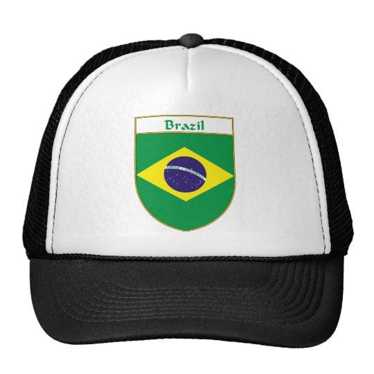 Brazil Flag Shield Trucker Hat