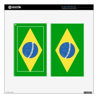 Brazil Flag Skins For Kindle Fire