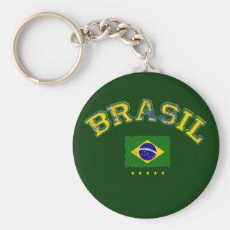 Brazil flag soccer style key chain