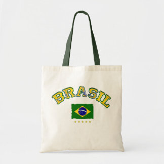 Brazil flag soccer style tote bag