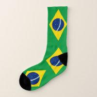 Brazil Flag Socks