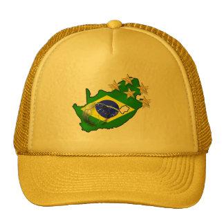 Brazil Flag South Africa Map Brazilian gifts Trucker Hat