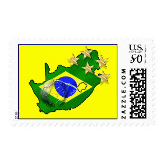 Brazil Flag South Africa Map Brazilian gifts Postage
