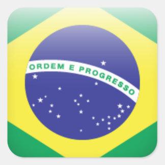 Brazil Flag Square Sticker
