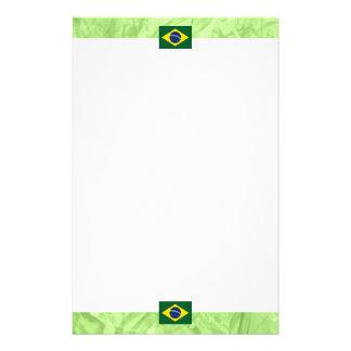 Brazil flag stationery