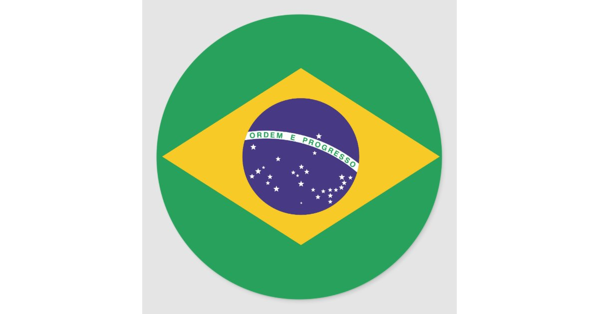 Brazil flag sticker zazzle com