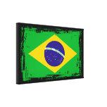 Brazil Flag Stretched Canvas Prints