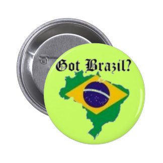 BRAZIL FLAG  T-SHIRT AND ETC 2 INCH ROUND BUTTON