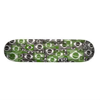Brazil flag texture skateboard