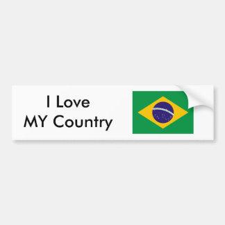 Brazil Flag The MUSEUM Zazzle I Love MY Country Bumper Sticker