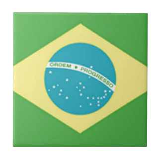 Brazil Flag Tile