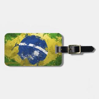 Brazil-Flag- Travel Bag Tags