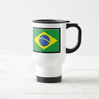 Brazil Flag Travel Mug