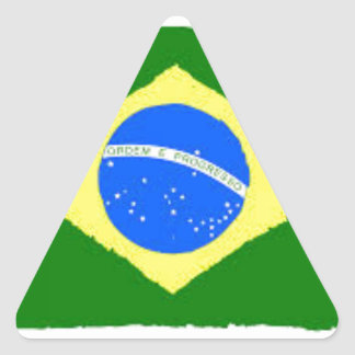 Brazil Flag Triangle Sticker