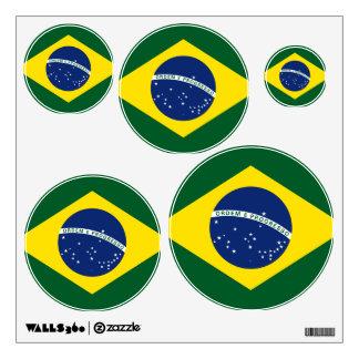 Brazil flag wall decal