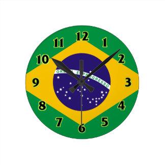 Brazil Flag WallClocks